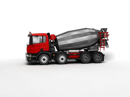 concrete mixer truck: Concrete