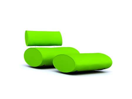 chaise: green chaise lounge - armchair
