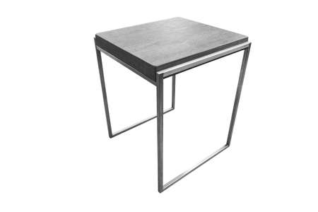 Close up black table isolated on white background with clipping path.