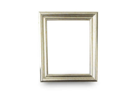 Close up white frame isolated on white background with clipping path.