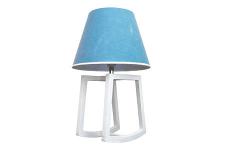 Close up blue lamp isolated on white background with clipping path.