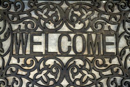 he welcome doormat Stock Photo