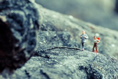 Miniatuur toerist Stockfoto