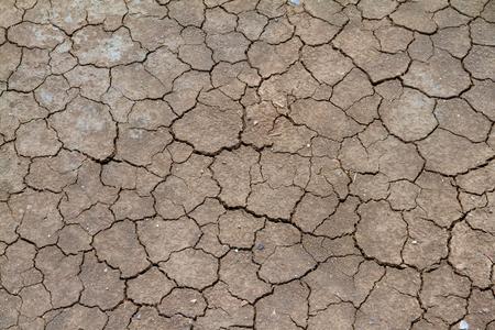 waterless: cracked earth Stock Photo