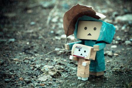 rainy season: toys in the rainy season Stock Photo
