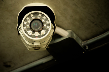 private security: Security Cameras Stock Photo