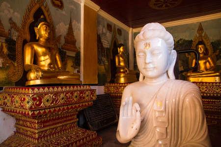 jade: White jade Buddha
