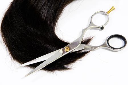 cutting hair: Scissors for hair cutting hair