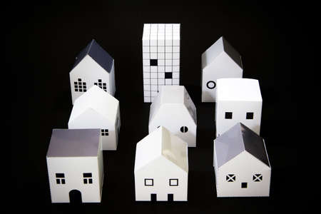 model houses: Home town paper