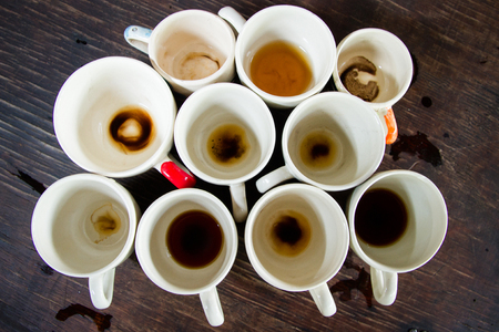 refreshment: Cup of delicious coffee for an afternoon refreshment. Stock Photo