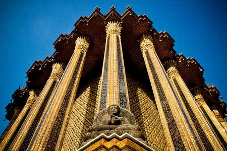 single story: Temple of the Emerald Buddha Stock Photo