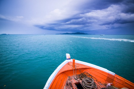 storm coming: storm is coming island. Stock Photo