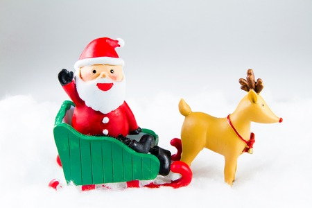 deliver: Santa Claus deliver happiness in Christmas day