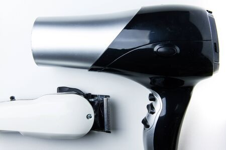 secador de pelo: The Hair dryer and hair clippers for hairdressers