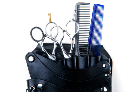 clippers comb: hair cutting scissors and comb for professional hairdressers