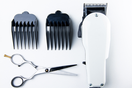 hair clippers: hair cutting scissors and hair clippers for hairdressers.