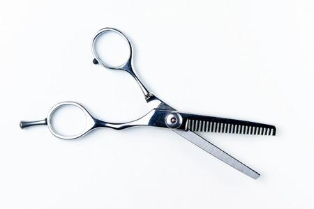 Haarschneide Schere für Friseure im Schönheitssalon Standard-Bild - 49255619