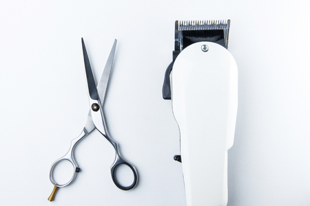 clippers: hair cutting scissors and hair clippers for hairdressers.