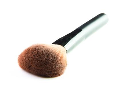 make up brush: make up brush powder blusher isolated on white background. Stock Photo