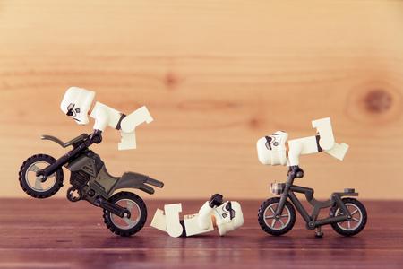 Nonthaburi, Thailand - 28 december 2015: de LEGO Star Wars mini figuren uit film-serie, Lego is een in elkaar grijpende bakstenen systeem in de hele wereld verzameld door volwassenen en kinderen. Redactioneel