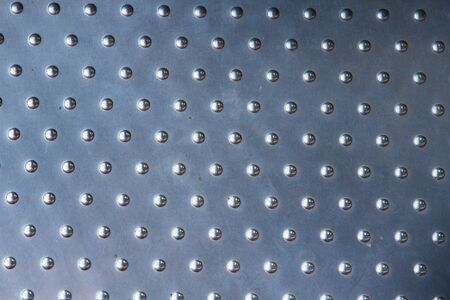 sliver: Sliver metal plate with many small circular dot Stock Photo