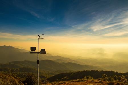 De wind windmeter met landschap Stockfoto - 52088180