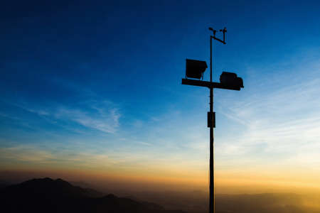 anemometer: The wind anemometer with landscape