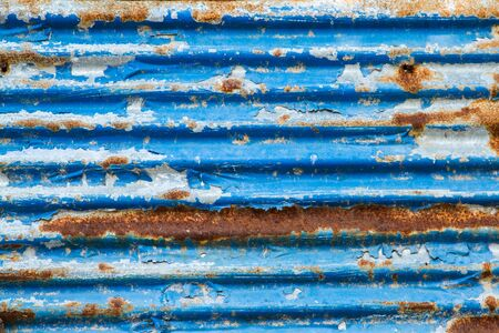 rusty fence: Old Texture and rusty zinc fence background. Stock Photo