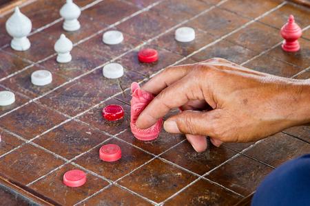 battle plan: Chess Thailand. Ultimate Brain Games, selective focus Stock Photo