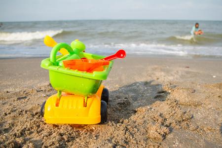 beach toys: beach toys in the sand.