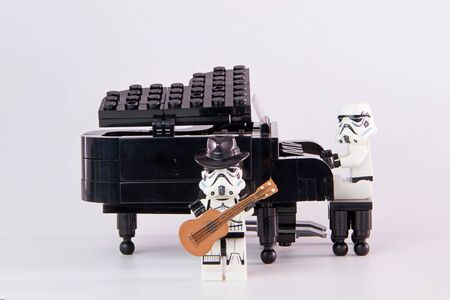 Nonthabure, Thailand - June, 24, 2016: Lego star wars musician.The lego Star Wars mini figures from movie series.Lego is an interlocking brick system collected around the world. Editorial