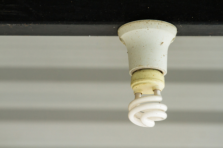 Energy saving fluorescent light bulb.