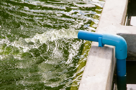 Waste water flow from water pipe