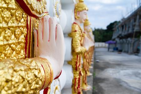 bodhgaya: Angel wall of buddhist temple in Bodhgaya Stupa or Phuthakaya Pagoda at Sangklaburi, Kanchanaburi, Thailand.