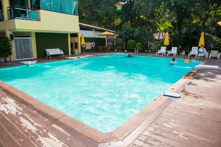 Rayong, Thailand - April, 28, 2017 : Swimming pool of Vongdeuan Resort at the Koh Samet Island, Rayong, Thailand Editorial