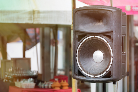 loud speaker: Loudspeaker amplifier in tha temple Thailand