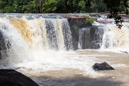 Tat ton Waterfall in early rainy season at Chaiyaphum Thailand