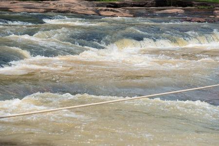 turbid: Tat ton Waterfall in early rainy season at Chaiyaphum Thailand