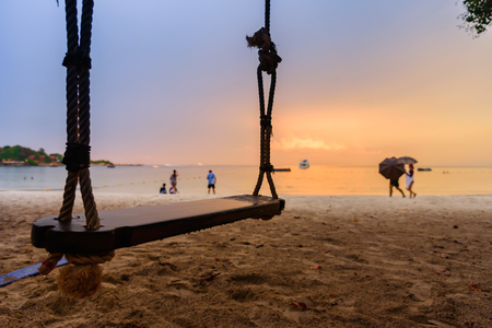 View of Vongdeuan beach sunset at the Koh Samet island, Rayong, Thailand