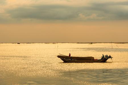View the sea of Bang Sai Pier, Chon Buri, Thailand. Stock Photo