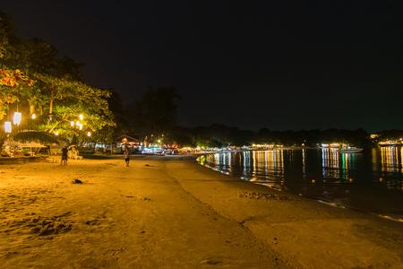 View of Vongdeuan beach, Dinner Restaurant at the Koh Samet island, Rayong, Thailand