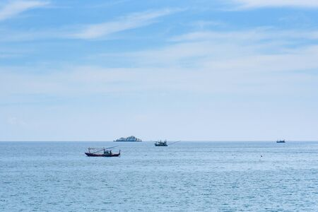 View from the sea of Koh Samet island, Rayong, Thailand Stock Photo