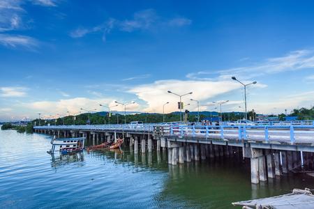 Chon Buri, Thailand - October, 08, 2017 : View the sea of Bang Sai Pier, Chon Buri, Thailand. Editorial