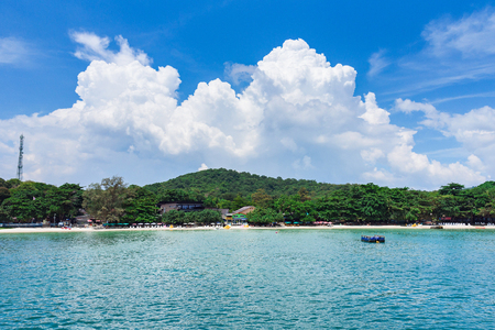 Rayong, Thailand - October, 08, 2017 : View from the sea of Koh Samet island, Rayong, Thailand