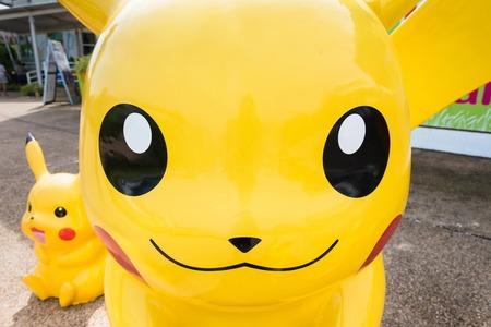 Phetchaburi, Thailand - November, 25, 2017 : Statue pokemon pikachu in the zoo at Phetchaburi, Thailand Editöryel