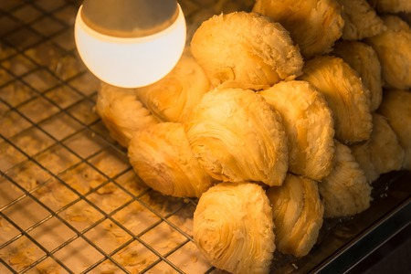 Curry puff In the glass cabinet