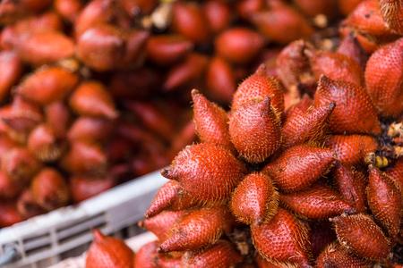 Wintergreen in basket, wintergreen is a fruit in tropical zone.Thailand