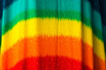 The colorful fabric background