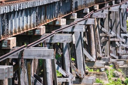 Railroad Bridge Railway in Kanchanaburi, Thailand