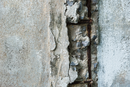 Concrete piling in states of disrepair